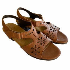 SAS Sunburst Chestnut Brown Ankle Strap Sandals